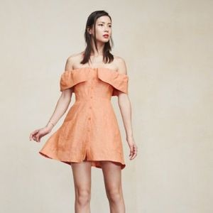 Reformation Botanica Landy Linen Dress 8